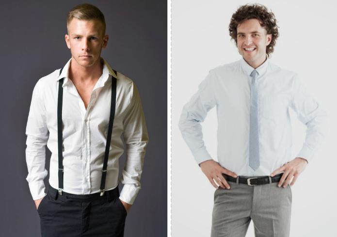 Stilfrage: Hosenträger oder Gürtel?