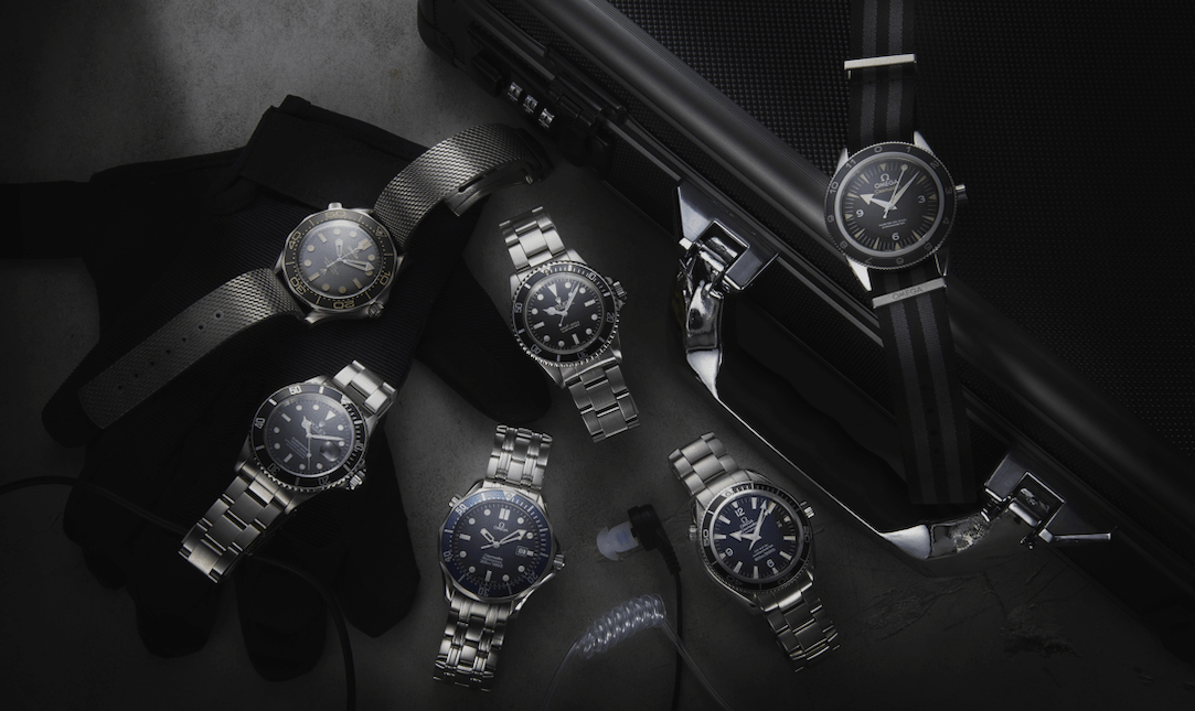 Watchfinder-Bond-Collection-L-R-anti-clockwise-Omega-Seamaster-Diver-300M-007-Edition-210.90.42.20.01.001-Rolex-Submariner-16610-Omega-Seamaster-300M-Quartz-Profession