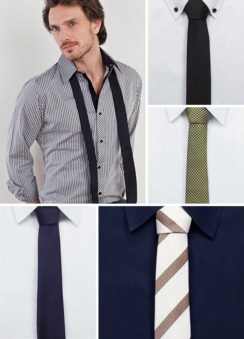 Schmale Krawatten