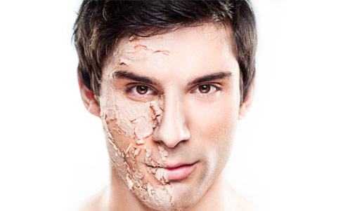 Trockene Haut bei Männern